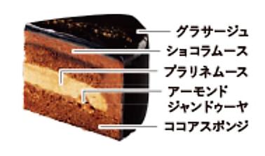 クリスマスショコラケーキ(ノワール)4号