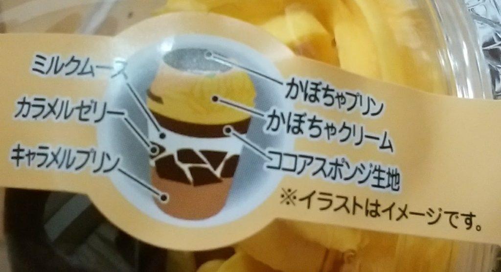 窯出しかぼちゃプリンのパフェ