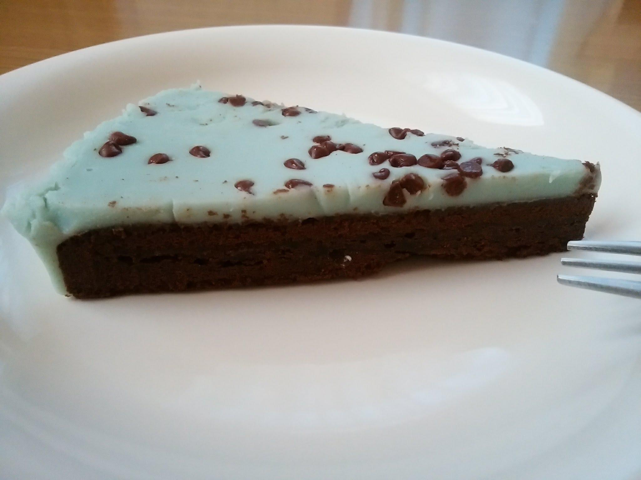 チョコミントの生ガトーショコラ