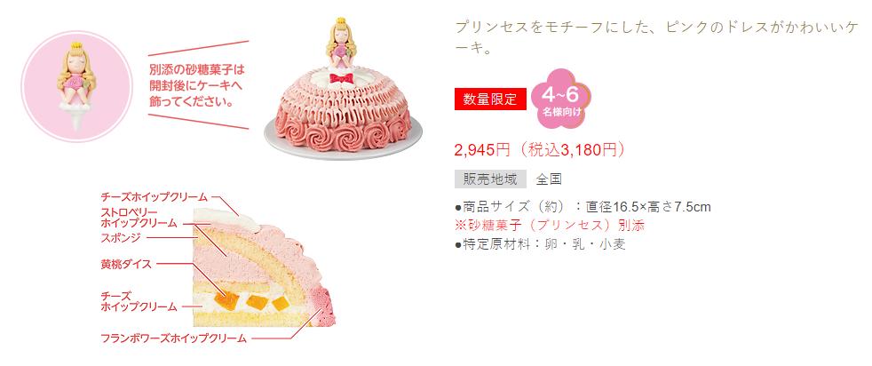 スイーツプリンセスケーキ