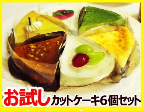人気のチーズケーキカットサイズ6個セット